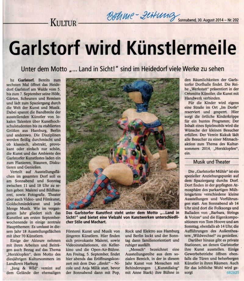 bhme-zeitung 30.08.14_garlstorf kunst